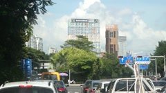 Shenzhen road traffic landscape, Guangdong, China Stock Footage