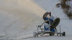 The snow blower on the side of the ski Stock Footage