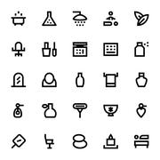 Beauty and Spa Vector Icon Pack - stock illustration