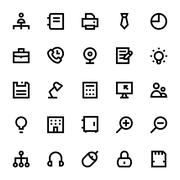 Business and Office Vector Icons Pack - stock illustration