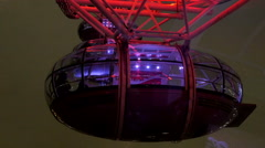 The capsule of the London eye in London - stock footage