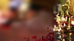 Wedding Motion Loopable Background , Diya on Blur BG Stock Footage