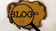 Searching for blogging Stock Footage