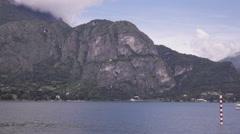 The lake Como - stock footage
