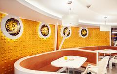 Modern Cafe Interior Stock Photos