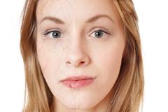 skin rejuvenation concept - stock photo