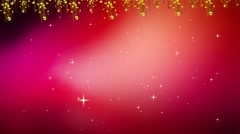 Wedding Motion Loopable Background , Glowing stars on red BG - stock footage
