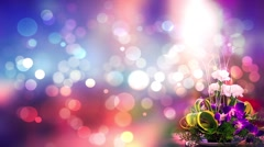 Wedding Motion Loopable Background ,flower bouquet on multicolor BG - stock footage