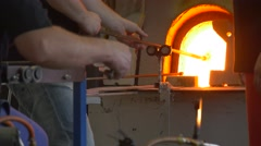 Employees Are Engaged in Manufacturing of Glass Ornaments Stock Footage