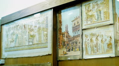 Egyptian papyrus painting from the store Stock Footage