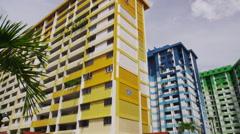 Public Housing near Bugis Village Stock Footage