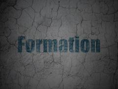Education concept: Formation on grunge wall background - stock illustration