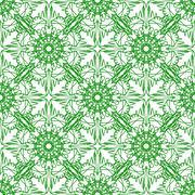 Green Seamless Texture Ornamental Backdrop - stock illustration