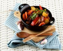 Colorful Vegetables Ragout Stock Photos