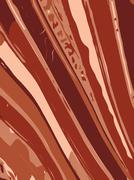 Striped wavy background in earth tone colour. Vector illustration - stock illustration