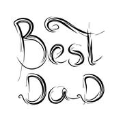 Best Dad. hand-written lettering, t-shirt print design, typographic composition Stock Illustration