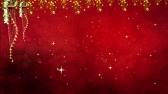 Wedding Motion Loopable Background , Red Floral BG with stars - stock footage