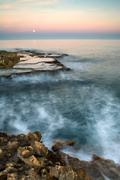 Time lapse view of rocky coastline Stock Photos