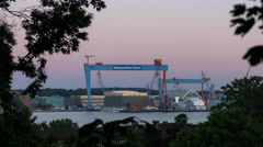 Kiel | Twilight Hour over HDW Stock Footage
