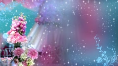 Wedding Motion Loopable Background , Floral Decoration with multicolor BG Stock Footage