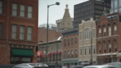 Denver Downtown Tilt Shift Stock Footage
