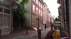 Philadelphia Alley, Crane Up Stock Footage