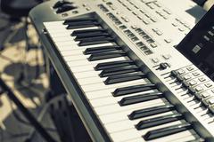 Detail of  keys on music keyboard Stock Photos