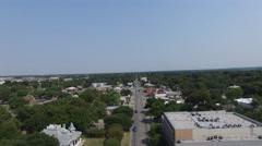 Aerial view of street car traffic - Austin, Texas, USA Stock Footage