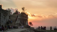 Sunset TImelapse of Tebing Breksi Prambanan Stock Footage