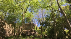 Castle of the Moors in Sintra Stock Footage