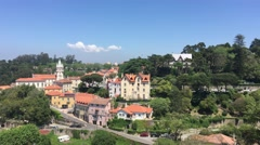 Sintra town with the Camara Municipal Stock Footage