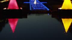 Showa Kinen Park Christmas Illumination Stock Footage