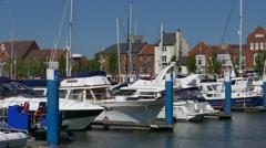 Boats in Hull Marina - stock footage