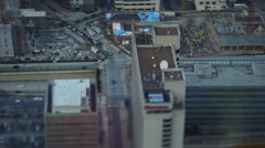 Philadelphia Downtown Tilt Shift Stock Footage