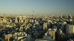 Birds Eye View of Tokyo with Sky Tree - stock footage