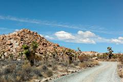 Road, Red Rock Canyon state park, Cantil, California, USA Stock Photos
