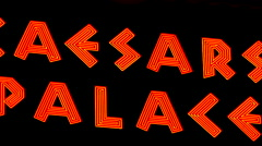 Zoom Out - Caesars Palace Neon Sign Stock Footage