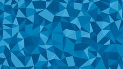 Abstract blue vector lowploly of many triangles background for use in design - stock illustration