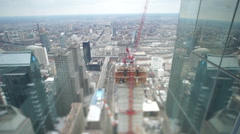 Philadelphia Skyscraper Construction Tilt Shift - stock footage