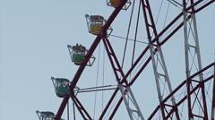 Detail View of the Odaiba Ferris Wheel Stock Footage