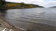 Loch ness Scotland uk popular tourist attraction viewed professional pan Stock Footage