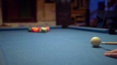Pool Break Shot Slow Motion Stock Footage