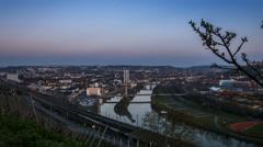Homeland   Wuerzburg Steinburg Day to Night - stock footage