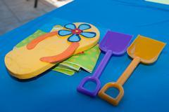 Summer party motifs - stock photo