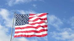 Large American (USA) Flag-Peekskill, NY-Circa June 2016 Stock Footage