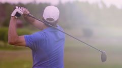 Morning golf in Sweden Stock Footage