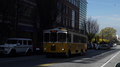 Atlanta Downtown Trolley Stock Footage