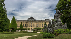 Homeland | Clouds moving over Würzburg Residenz Stock Footage
