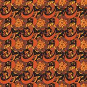 Seamless pattern in traditional russian khokhloma style Stock Illustration