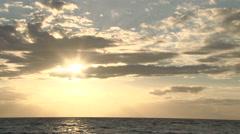 Sun Beams Through Ocean Clouds - stock footage